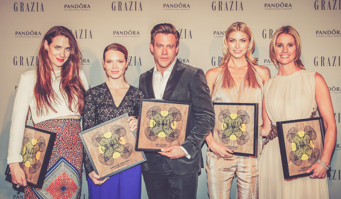 Pandora At Grazia Best Dressed Award Red Carpet Roter Teppich Outfit