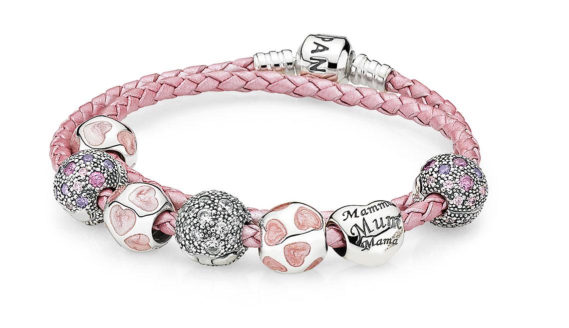 pandora armband anhänger rosa