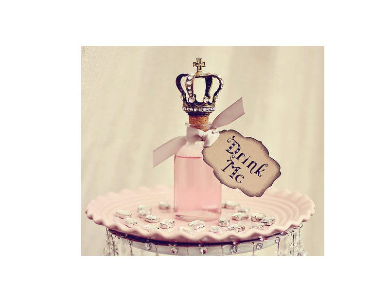 coccinelle alice wonderland header drink me