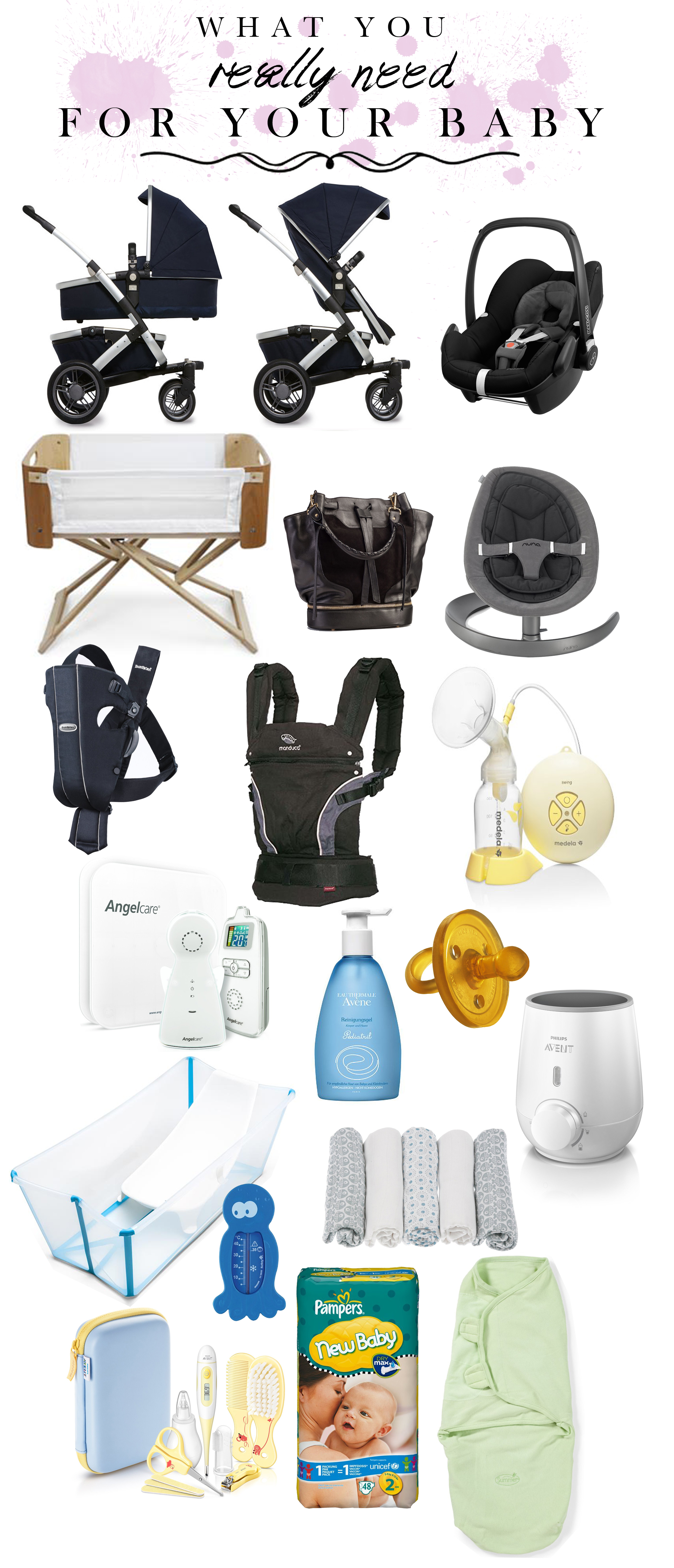 what you really need for your baby Baby Erstausstattung