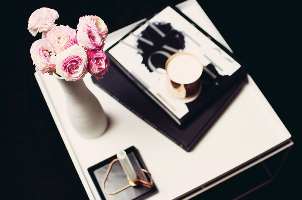 coffee table black copper