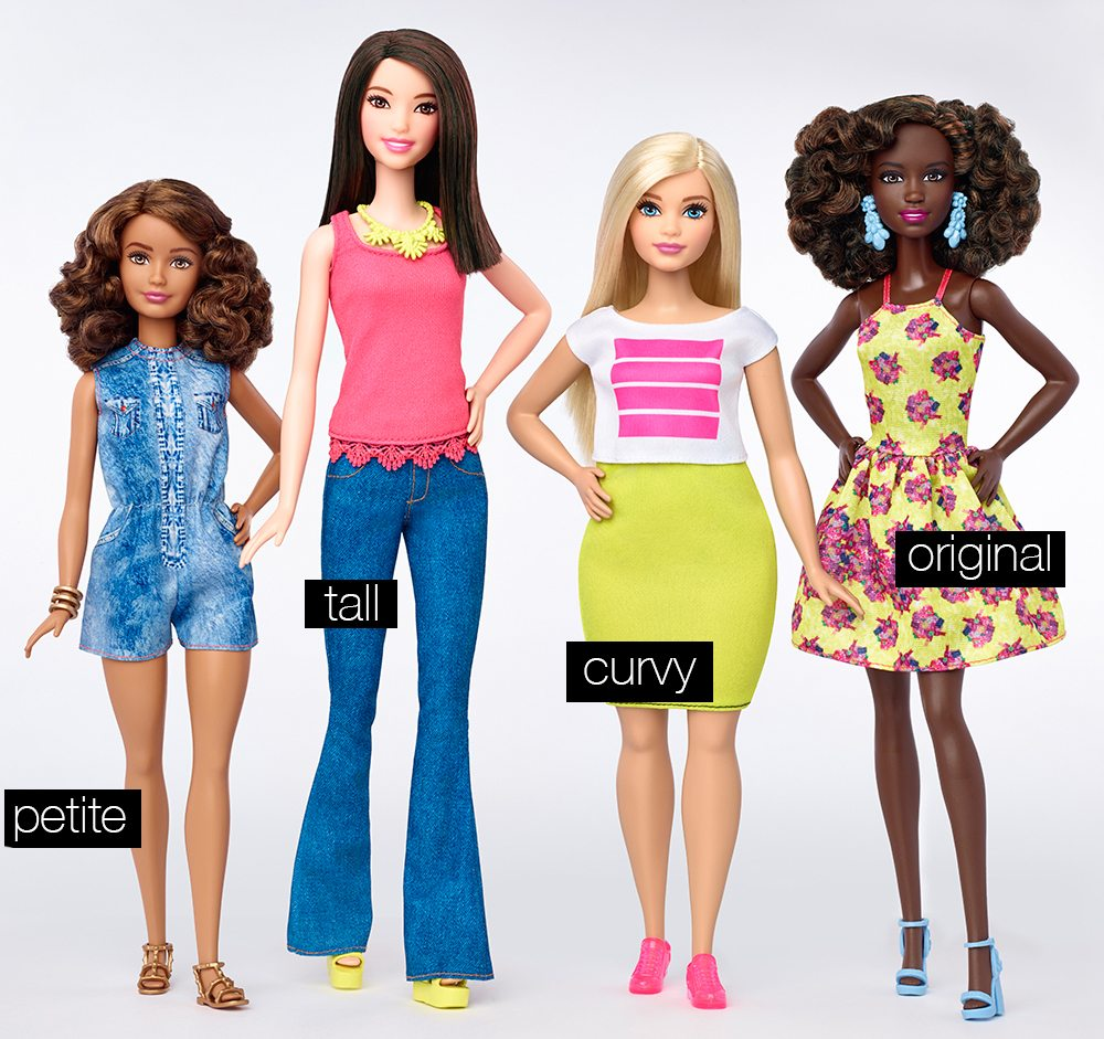 The Evolution of Barbie - The new 2016 Fashionistas Line - fafine by ...