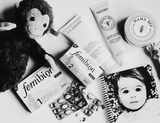 anna frost femibion fafine flatlay clarins burts bees