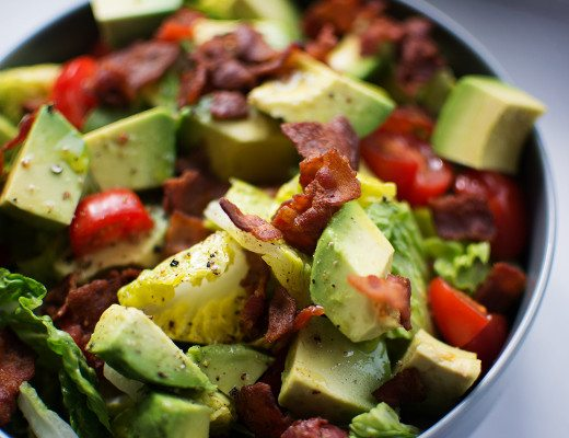 super BLT salad bowl paleo low carb