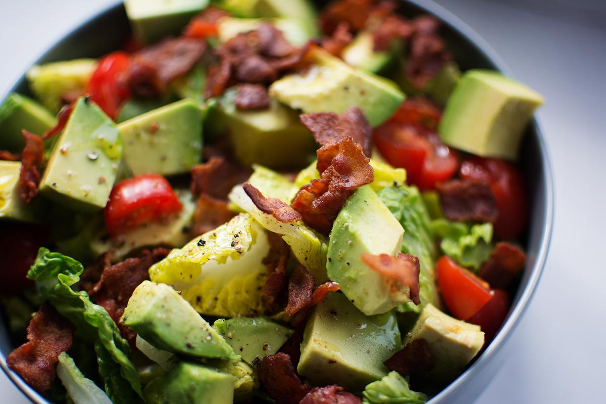 super BLT salad bowl paleo low carb