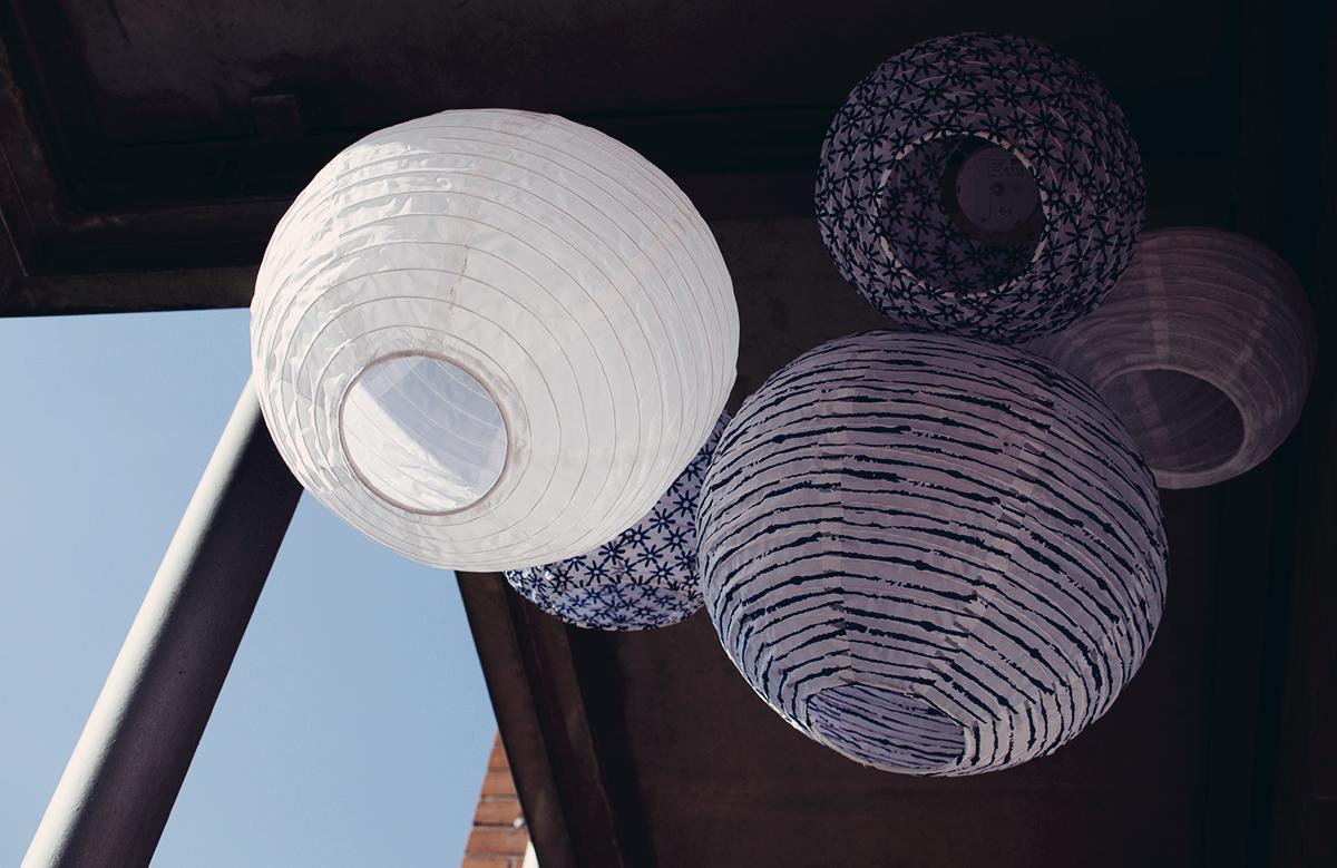 Balkon Lampions von IKEA