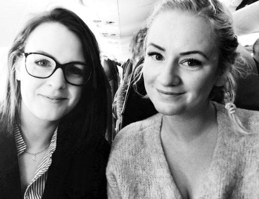 Anna Frost und Lina Mallon im Flugzeug nach Stockholm zum Eurovision Song Contest 2016