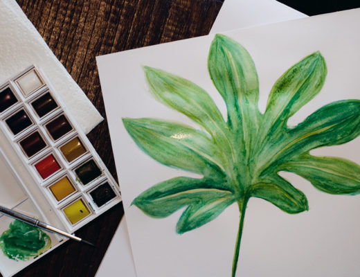 pflanzen monstera watercolour