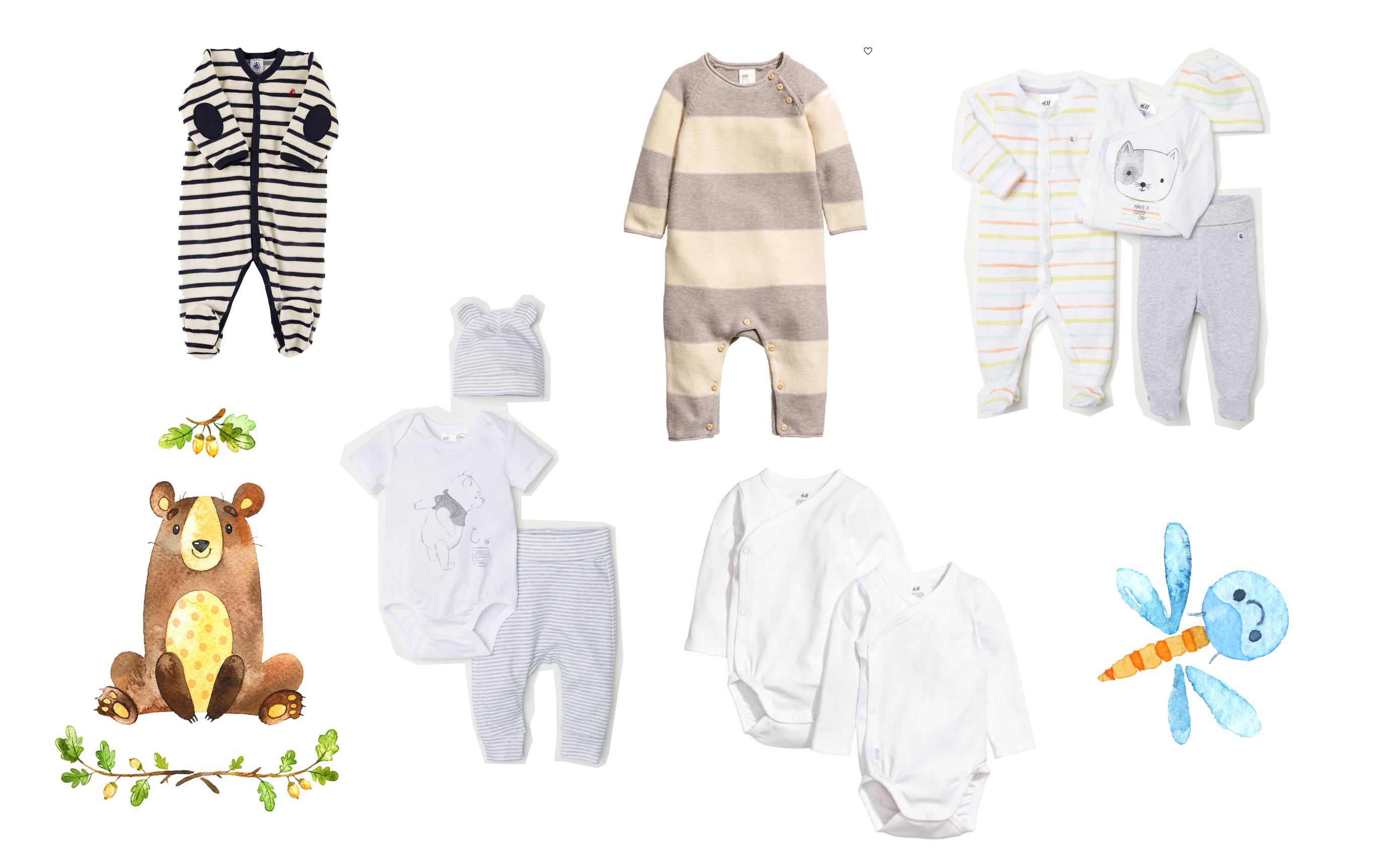 baby erstausstattung going home outfit kliniktasche